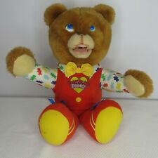 Marchon Talk To Me Teddy 1980s Talking Bear Vintage Mouth Moves Collectible