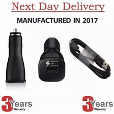 Fast USB Car Charger & Cable Samsung Galaxy S7 S6 Edge+ Note 4 5 GENUINE SAMSUNG