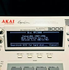 Akai MPC3000 LUX (Negative) Tri-Axis Black LED Display !