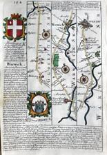GLOUCESTER WARWICK COVENTRY STRETFORD  BY EMANUEL BOWEN GENUINE ANTIQUE c1720