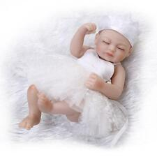 10''Reborn Girl Baby Doll Handmake Lifelike Vinyl Silicone Realistic Bath Dolls