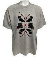 VINTAGE Nike Air Jordan Sneaker T-shirt Men's XXL Gray Michael Jordan 2006