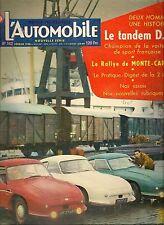 L'AUTOMOBILE 142 1958 DB CHARLES DEUSCH RENE BONNET SKODA 440 LE MONTE CARLO