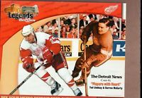DARREN McCARTY & TED LINDSAY Detroit News DETROIT RED WINGS 8x10 Collect Card!