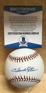 CLAUDE OSTEEN LOS ANGELES DODGERS SIGNED AUTO M.L. BASEBALL BECKETT H80040