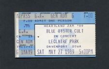 1989 Blue Oyster Cult Bachman Turner Concert Ticket Stub Davenport Ia Boc Bto