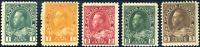 Canada #104-108 mint F OG HR 1911-1922 King George V Admiral Part Set CV$50.00