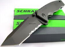 Schrade Tactical Titanium Tanto Blade Folder Part Serr Knife SCH306TS