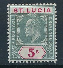 [55388] St-Lucia 1905 good MH Very Fine stamp $100 (Mult. CA wtmk)