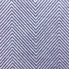DESIGNER BLUE GREY HERRINGBONE STRIPE UPHOLSTERY CURTAIN FABRIC MATERIAL SALE!