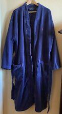 Polo Ralph Lauren Mens Size L/XL Navy Blue Red Logo  Cotton Terry Robe