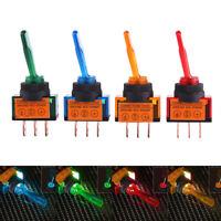 LED Light Toggle Rocker Switch On/Off SPST For Car Auto Boat 4Pcs 3 Pin 12V 20A