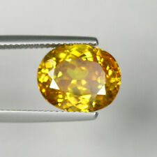 7.94 ct DAZZLING BEST GRADE YELLOW MULTI CLR SPARKLING NATURAL SPHELARITE  4882