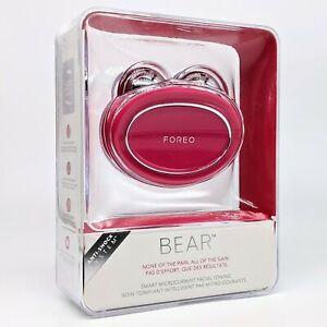 FOREO BEAR Microcurrent Facial Toning PINK Ex Display Damaged Box No Stand