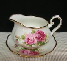 AMERICAN BEAUTY Royal Albert Bone China GRAVY BOAT & UNDERPLATE England Roses
