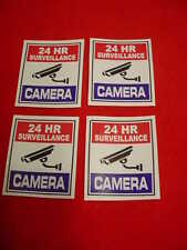 FOUR SURVEILLANCE SECURITY CAMERA WARNiNG DECAL/STICKERS for HOME or BUSINESS
