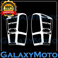 Triple Chrome Plated Taillight Trim Cover Bezel  for 16-18 Toyota Tacoma