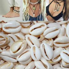 100Pcs Lots Small Bulk Cut Sea Shell Ivory Cowrie Cowry Beads Beach Jewelry DIY
