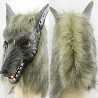Realistic Werewolf Wolf Mask Halloween Party Masks Adults Animal Cosplay Costume