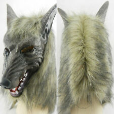 Werewolf Mask Adults Wolf Head Masks Latex Prop Halloween Costume Fancy Dress