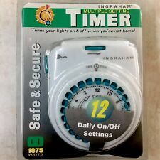 Light Timer Vacation Multi-Settings (12 Daily On Off) 1875 Watts Safe & Secure