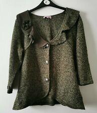 Per Una Olive Green Ladies Cardigan Size Large (D5 GA)