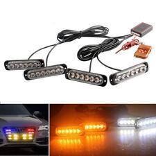 4in1 24LED Car Police Strobe Flash Light Dash Emergency Warning Lamp Amber/White