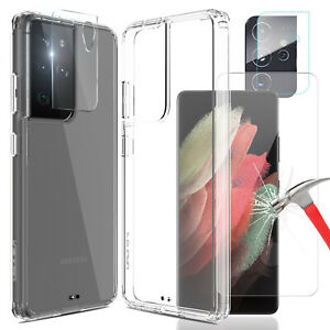 For Samsung Galaxy S21+ S21 Ultra 5G Note20 Clear Case / Lens & Screen Protector
