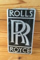 Vintage Classic Car Badge Rolls Royce