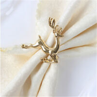 Deer Napkin Ring Holder Christmas Wedding Antique Set Party Table Decor S