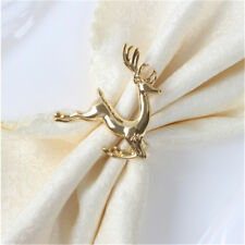 Deer Napkin Ring Holder Christmas Wedding Antique Set Party Table Decor S