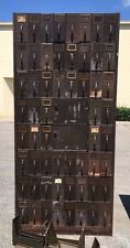 Vintage Industrial ART METAL Steel Mail Sorter / Library File LARGE cabinet