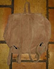 ECOTE BEIGE SUEDE LEATHER BACKPACK PURSE BAG