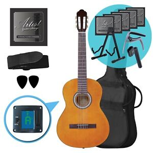 Artist CL44AM Full Size Classical Guitar Ultimate Pack - Amber
