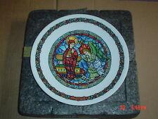 Limoges Collectors Plate NOEL VITRAIL L'ANNONCIATION
