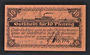 vad - FLENSBURG - 10 PFENNIG GERMAN NOTGELD  *** UNC ***