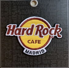 Hard Rock Cafe MADRID 2018 Classic HRC Logo PATCH on Card Iron/Sew On NEW!