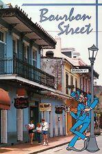 Bourbon Street, French Quarter, New Orleans, Louisiana, Flags etc. --- Postcard