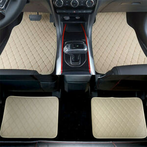 For Front  Rear Waterproof PU Leather Car Floor Liner Carpet All Weather Mats