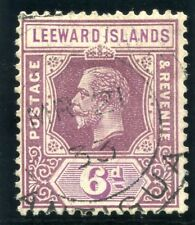 Leeward Islands 1921 KGV 6d dull & bright purple very fine used. SG 86. Sc 75a.