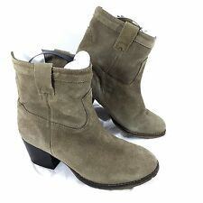 Women's Steve Madden SHAKKERR Ankle Boots Brown suede leather Sz 9 M