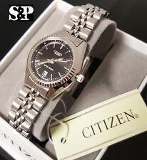 Women Citizen Elegant Luxury Stainless Steel Metal Band Date Dress Wrist Watch