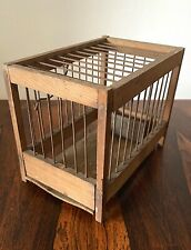 Coal Miner's Canary Bird Cage Antique Vintage Wooden