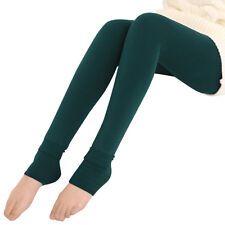 Women Warm Winter Skinny Slim Brushed Leggings Stretch Pants Thick Heel Trousers