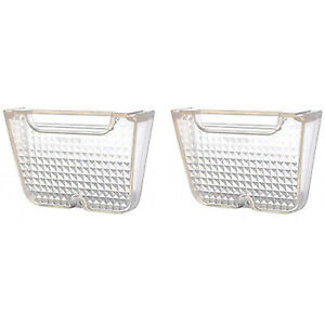 62 63 64 Chevrolet Chevy II Nova Clear Back Up Light Lens Lenses Pair 1962-1964