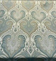 Kravet Latika 135 Seafoam Blue Beige Damask Fabric By the Yard