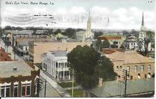 Bird's Eye View Baton Rouge LA nice vintage postcard postally used in 1909