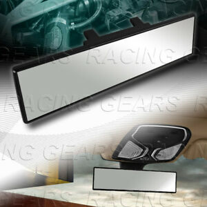 300MM Wide Flat Interior Clear Clip On Panoramic Rear View Mirror Universal