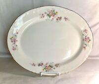 "Homer Laughlin Republic Shape Floral Pattern 15 1/4"" Oval Serving Platter"