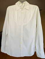 3J Workshop Johnny Was Embroidered Button Down Shirt White Blouse Lexington NWT